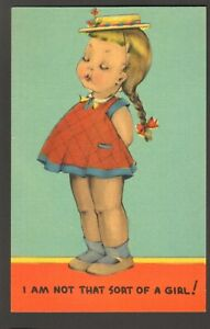 Unused-Postcard-Comic-I-am-not-that-sort-of-Girl-Little-Girl-with-hat