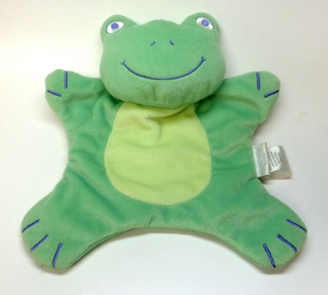 "Carter's Baby Lovey Security Blanket Plush Green Frog Boys & Girls 10"" x 11"""