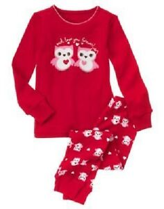 """Earnest Gymboree Girl Size 3 Red Gymmies Pajamas """"owl Love You Forever"""" Sleepwear New To Be Highly Praised And Appreciated By The Consuming Public Clothing, Shoes & Accessories"""