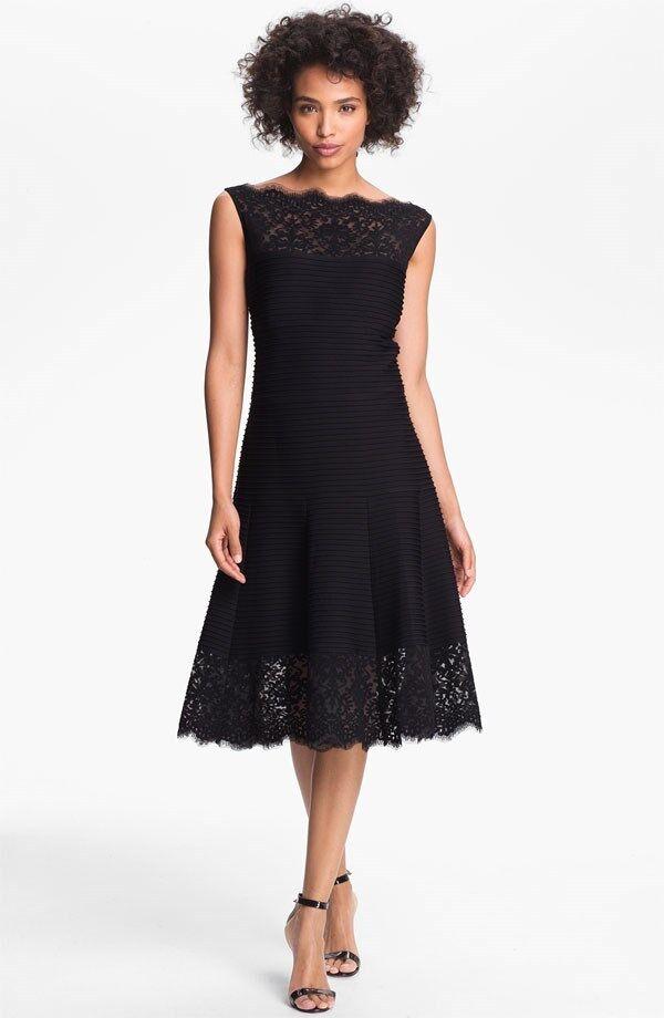 Tadashi Shoji Matte A-Line Jersey Dress ( Size PM)