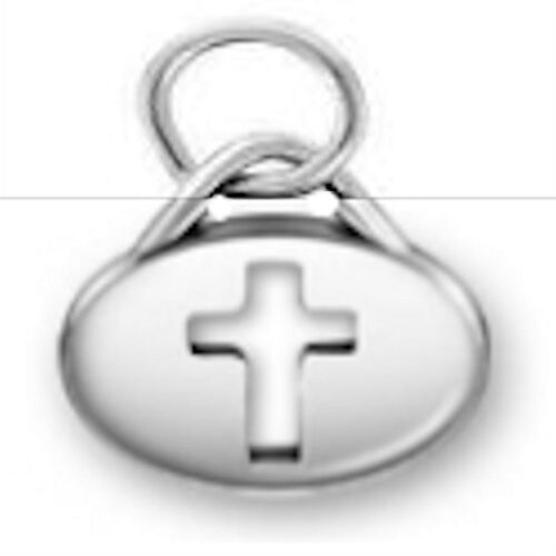 Charm Cross Message Charm .925 Sterling Silver