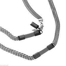 NEW DIESEL MIXED STAINLESS STEEL CHAIN LONG NECKLACE DX0454