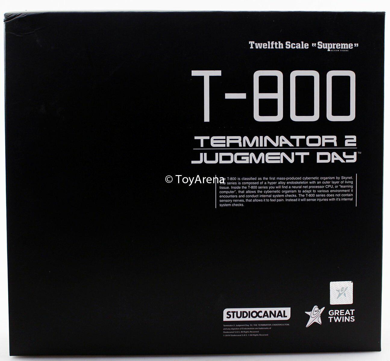 Great Twins 1 12 T-800 Terminator 2 JudgeSiet Day Action Figure USA SELLER