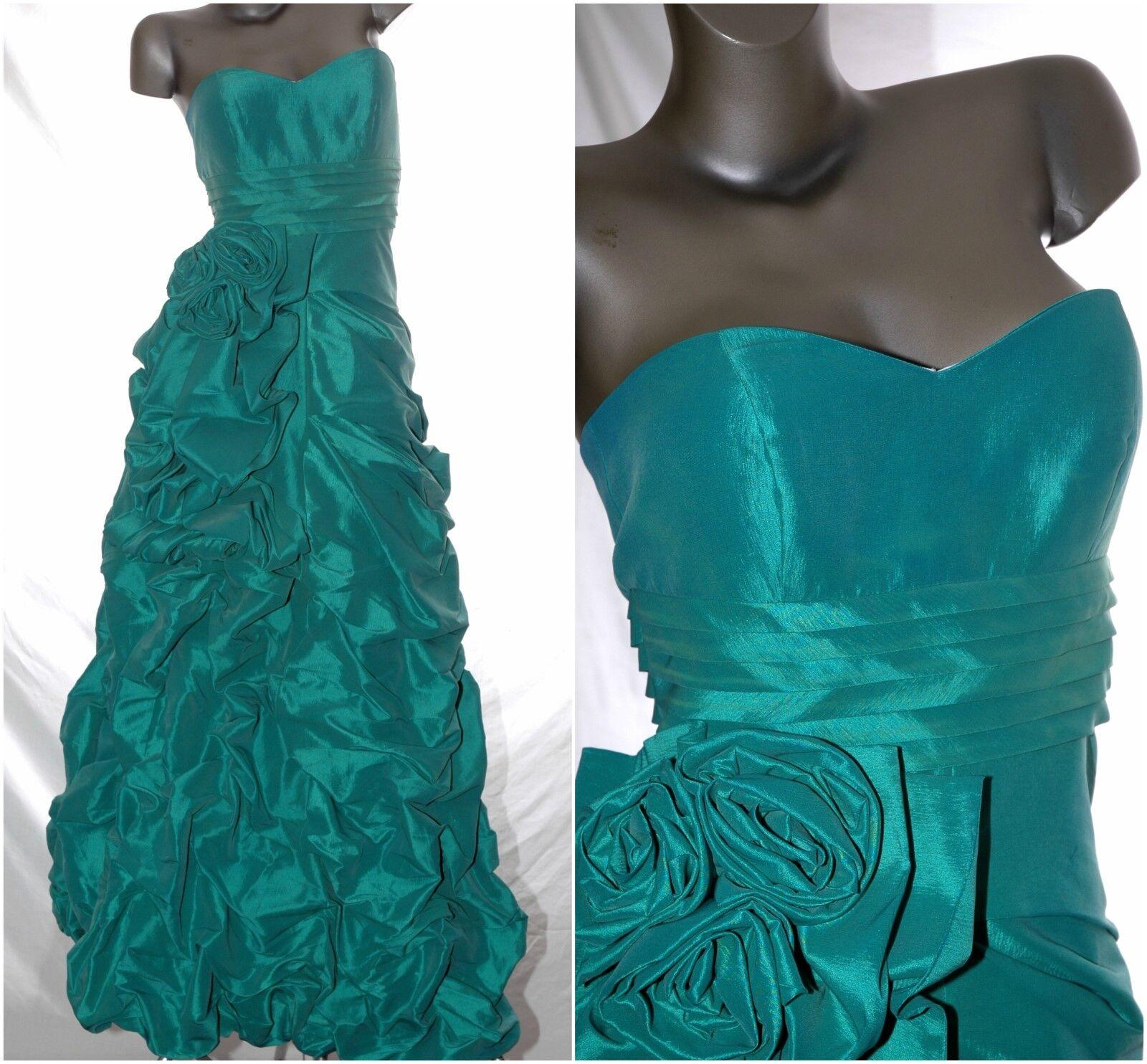 Prom DRESS Emerald STRAPLESS Grad Gown Pageant Gala Wedding Formal NWT JOVANI 10