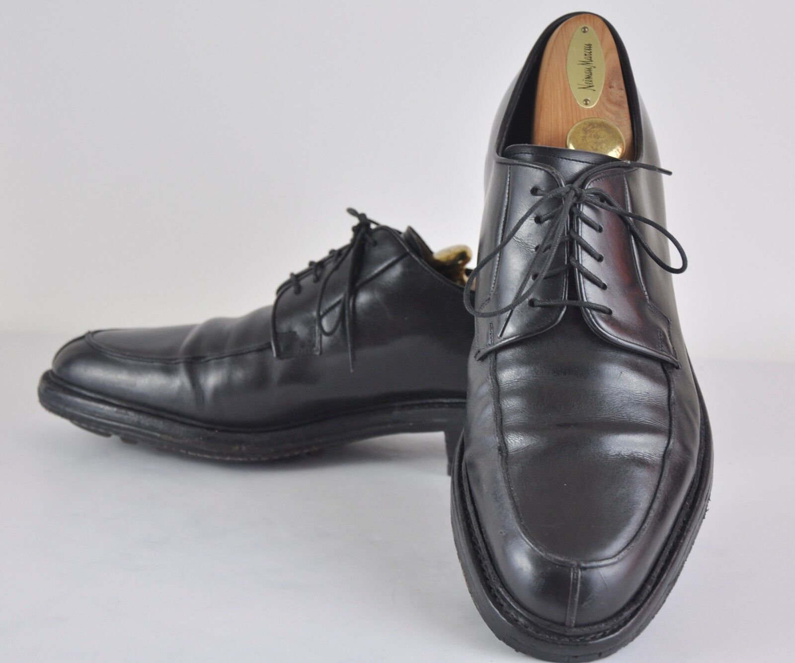 SANTONI Blake Leather Split Toe Derby Handcrafted Oxfords MADE IN ITALY 11.5 M