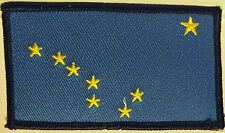 ALASKAN FLAG BIKER PATCH - ALASKA NORTH STAR & BIG DIPPER - BLUE & GOLD