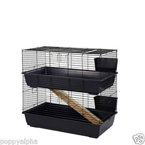 Rabbit Guinea Pig Indoor Cage Hutch 80cm 100cm 80 100