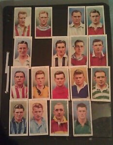 1939-cigarette-cards-43-50-English-Football-incl-Stanley-Matthews-from-WILLS