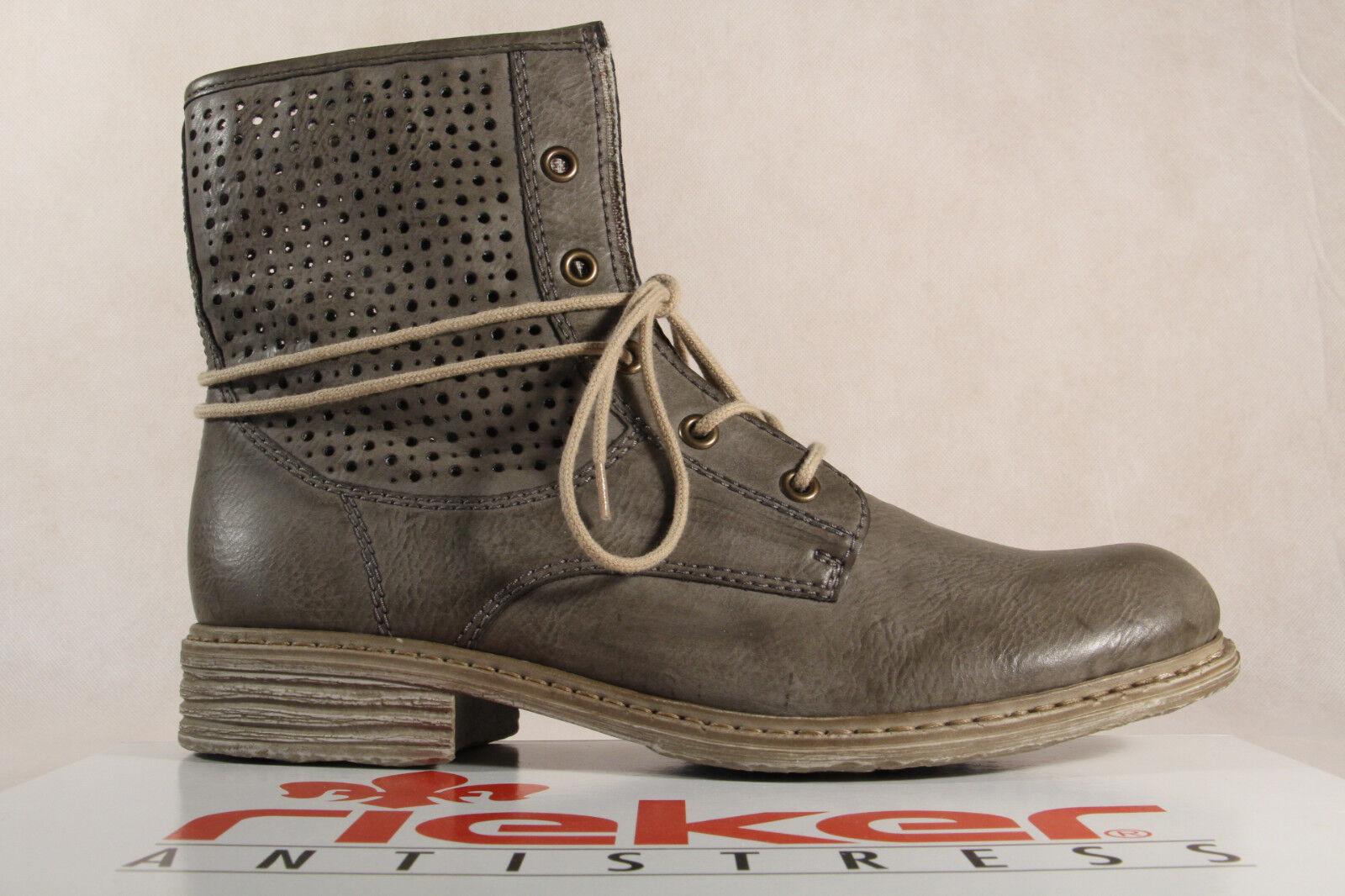 Rieker Z2125 Stiefel Damen Stiefel Siefeletten Stiefel Z2125 Kunstleder grau NEU 589271