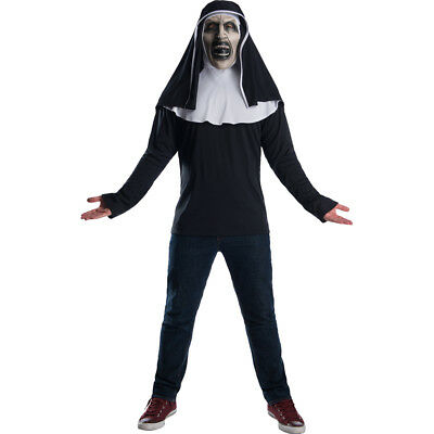 The Nun Horror Movie Fancy Dress Top /& Mask Outfit Costume Adult Std