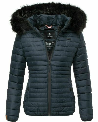 Navahoo Autumn Winter Jacket Ladies Quilted Faux fur Collar Hood New