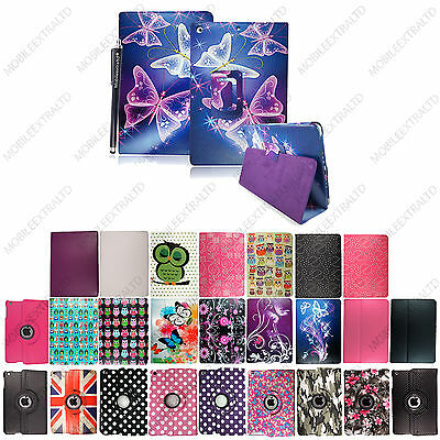Printed Leather Case Cover Smart Stand For Apple iPad / Mini / Air / Pro +Stylus