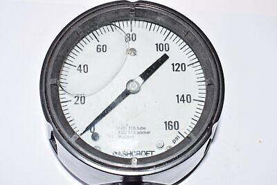 Deftig Ashcroft 0-160 Psi Pressure Gauge Aisi 316 Tube Aisi 316 Socket