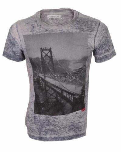 NEW LEVI/'S STRAUSS MEN/'S CLASSIC COTTON SAN FRANCISCO BRIDGE T-SHIRT SHIRT GRAY