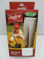 Rawlings Deluxe Youth Baseball Pants White