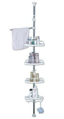 Bathroom Shower Corner Caddy Shelf Holder Spring Tension Pole Rack Organizer