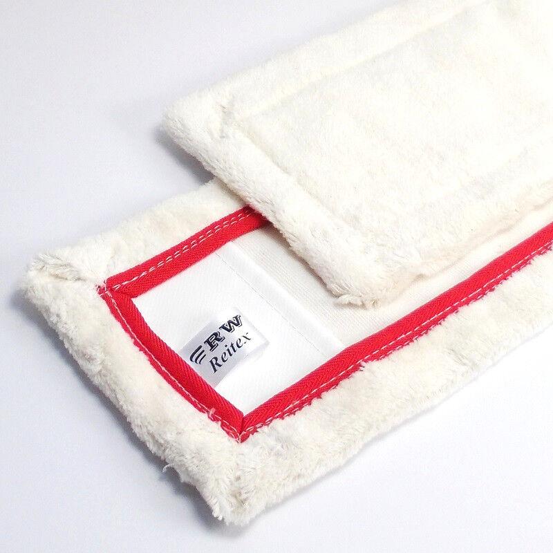 Baumwoll- Wischbezug 42 cm für Parkett Bodenfaser Nassfaser Naßfaser Mop Mopp