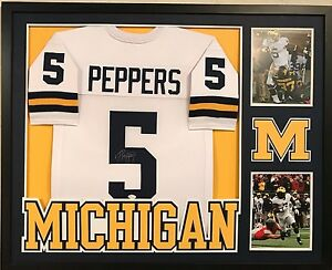 more photos 823d0 12e9d Details about FRAMED JABRILL PEPPERS AUTOGRAPHED SIGNED MICHIGAN WOLVERINES  JERSEY JSA COA