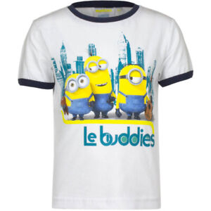 Minions Kinder T-Shirt Le Buddies Weiß die Kumpels Illumination Entertainment