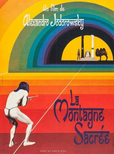 Art Poster THE HOLY MOUNTAIN Movie RARE European 14X21 24X36Inch Wall Decor D333