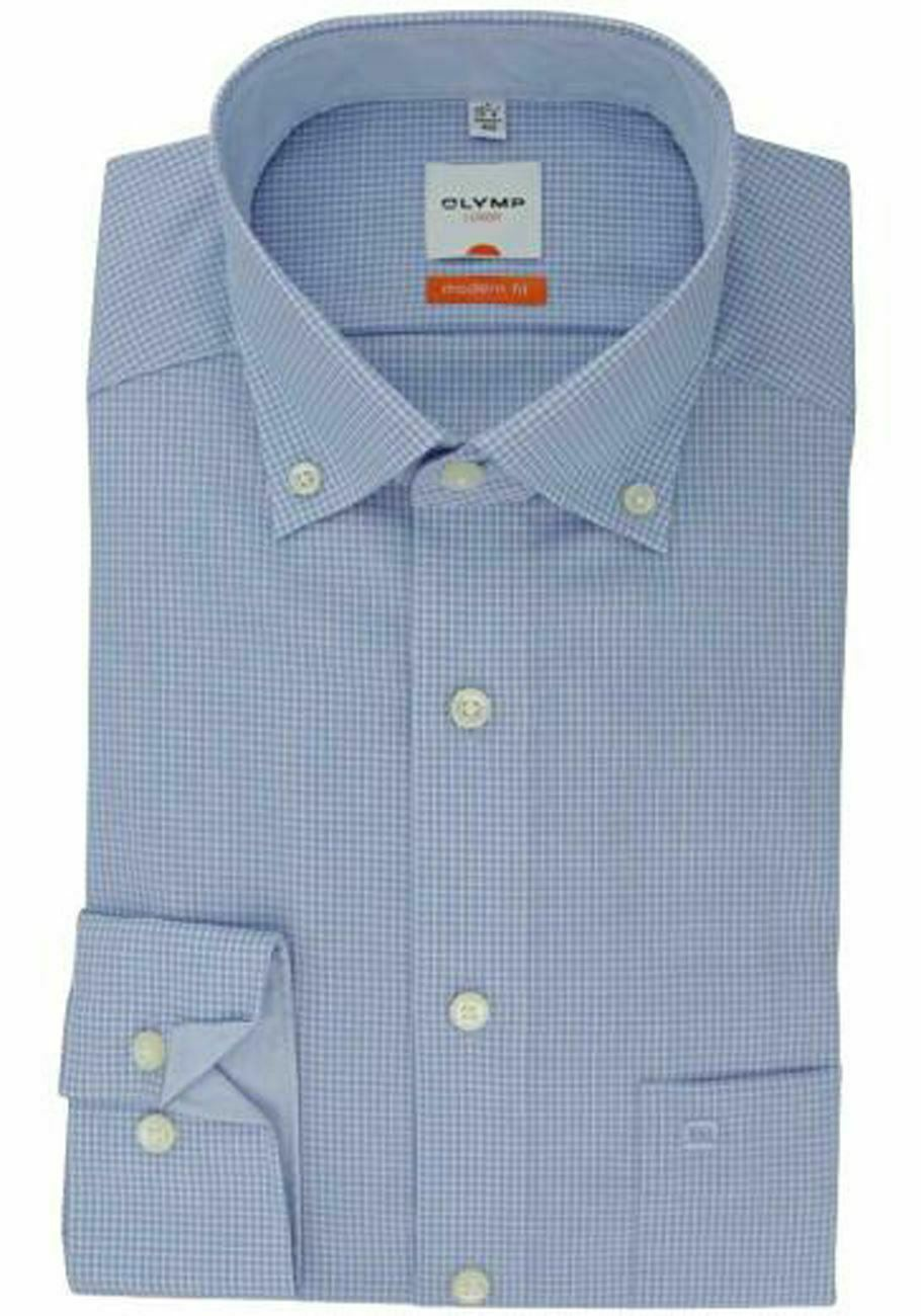Sky Gingham Button-Down