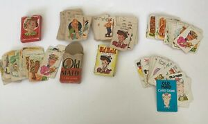 Lot-Of-5-Vintage-Old-Maid-Card-Games-Whitman-Western