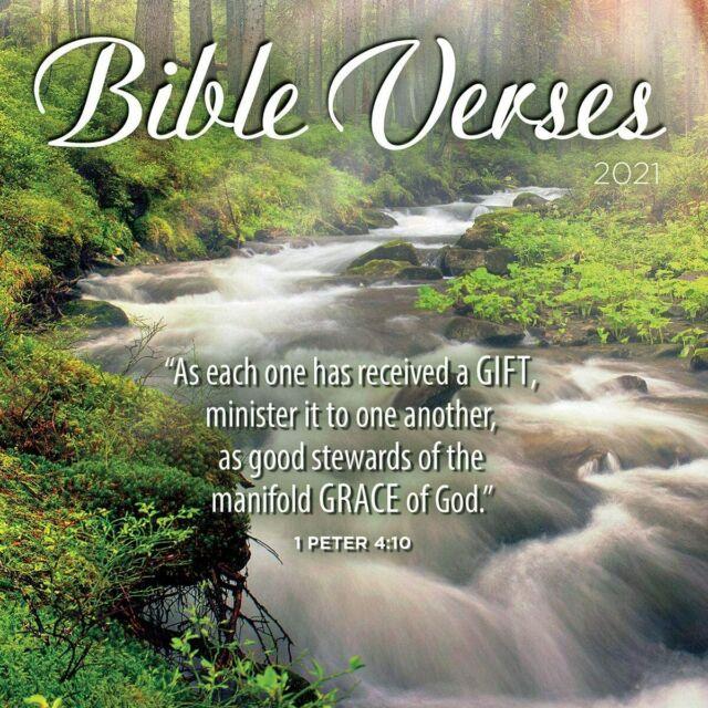 BIBLE VERSES - 2021 DAILY DESK CALENDAR - BRAND NEW - LANG ...