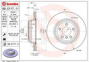Brembo-09-C117-11-Rear-Premium-Rotor