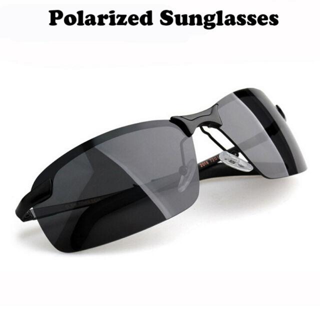 UV400 Polarisiert Sonnenbrille Fahrbrille Radbrille Sportbrille Brille Schwarz