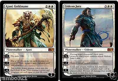 Gideon Jura & Ajani Goldmane + 20 Random Rares! MTG Magic The Gathering Gift Set