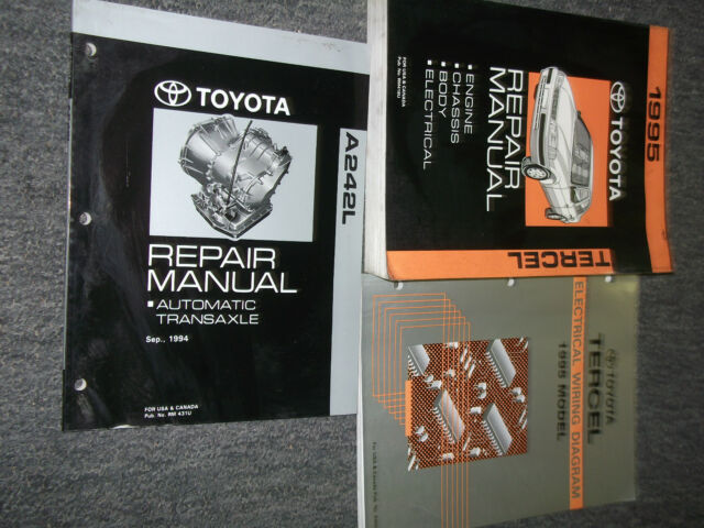 1995 Toyota Tercel Service Shop Repair Manual Set W Ewd  U0026 Trans Factory Oem 95