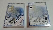 Pack 12 Claude Monet Boulevard des Capucines full deck of cards by Laurel Ink