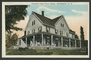 Phillipsport-Mamakating-NY-c-1920-Postcard-PLEASANT-VIEW-FARM-HOUSE-Boarding