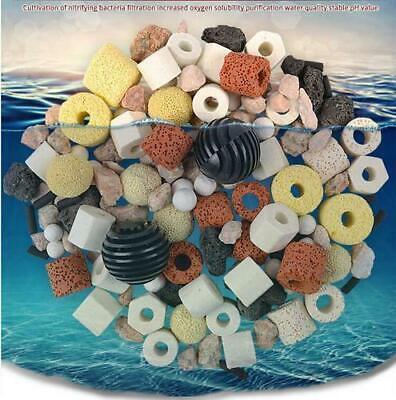 50gAquarium Fish Tank Filter Media Activated Carbon Ceramic Ring Biological Ball