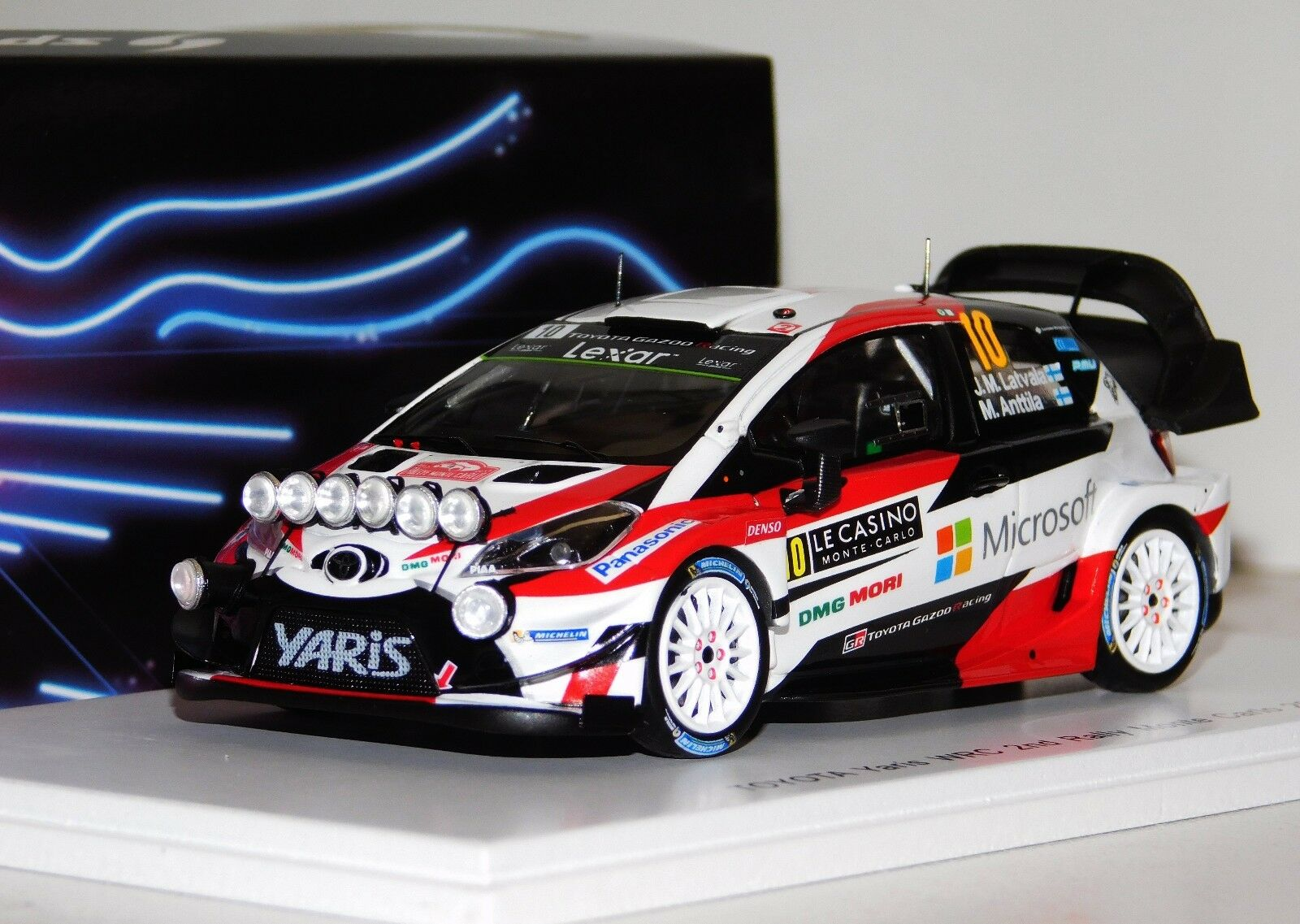 Toyota Yaris WRC 2ND Monte Carlo 2017  10 Latvala Night Version Spark S5163 1 43