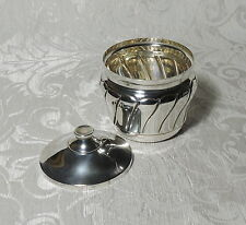 Zuccheriera di argento Italia c1980 Continental Silver Lidded Sugar / Candy Bowl