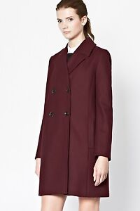 Eur42 Connection Cappotto Donna Taglia Di Uk14 Us10 French Lana Burgundy 4F8PFpq