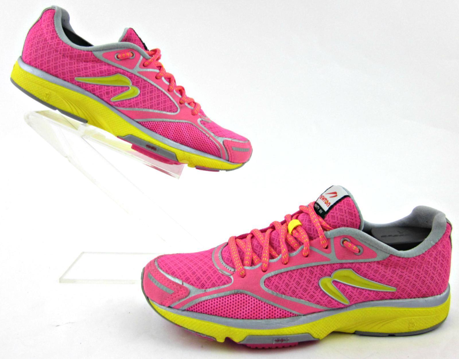 Newton Gravity III Womens Running Shoes Flash Pink Yellow US 6 Fantastic!!