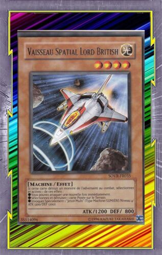 Vaisseau Spatial Lord British SOVR-FR035 Lumière Machine Effet Niveau 4 YGO