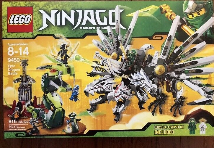 Lego 9450 Ninjago Epic Dragon Battle Retired Set New In Sealed Box