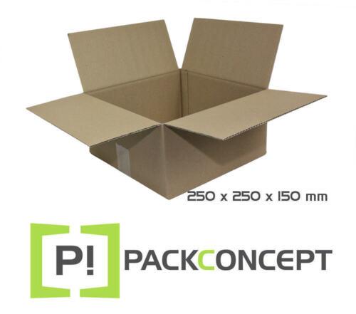 Faltkarton 1-wellig 250 x 250 x 150 mm; Karton; Faltkarton; Versandkarton §4