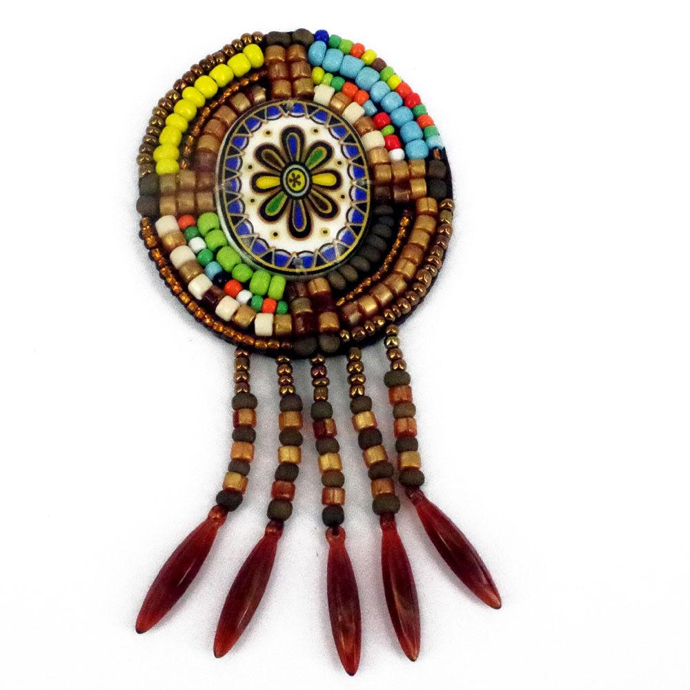 Patch Sewing bag Decoration Inca Kuchi Afghan Banjara Tribal beads AF45