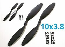 """4pcs 10x3.8"""" 254x97mm Slow Flyer Electric Propeller with Adapters, US 001-00310A"""