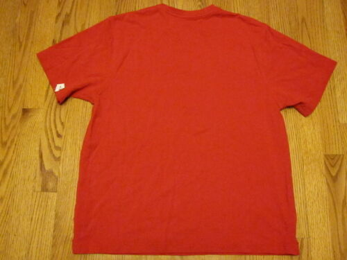 APPLE Woven Pique Tee T-SHIRT Red Retail Store Mac iPod Small Medium or Large