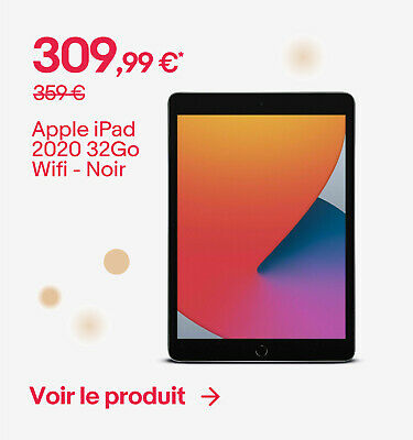 Apple iPad 2020 32Go Wifi - Noir - 309,99 €*