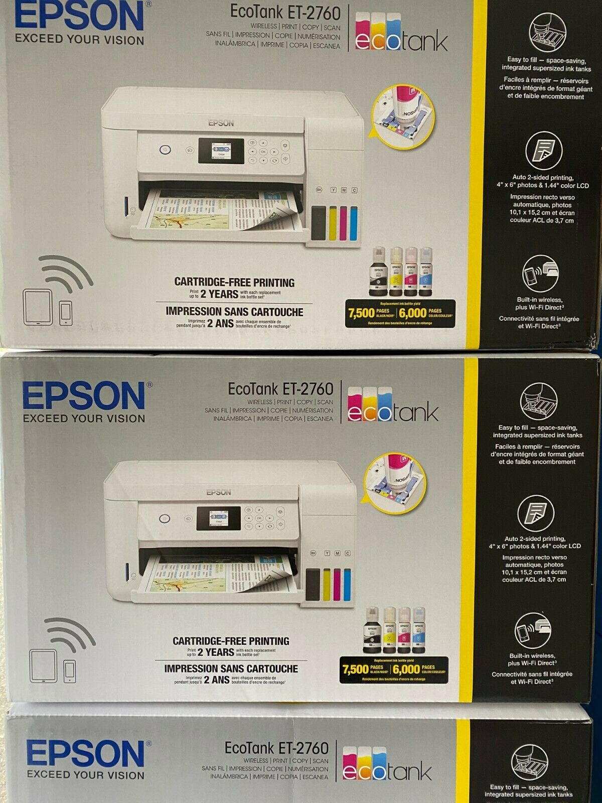 Epson EcoTank ET-2760 Wireless Color All-in-One Supertank Printer 🚚 FREE SHIP. Buy it now for 294.97