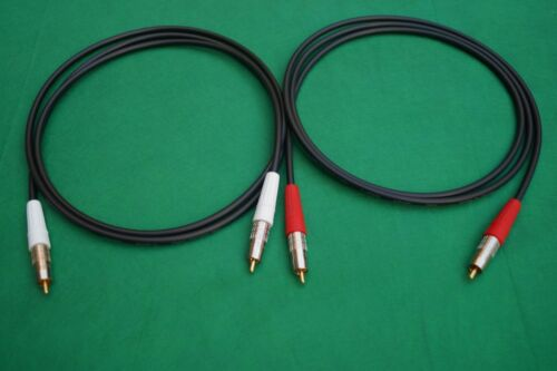 2 Ft. Canare L-3CFB HI-FI 75 Ohm RCA to RCA L+R Audio Video Cable Pair