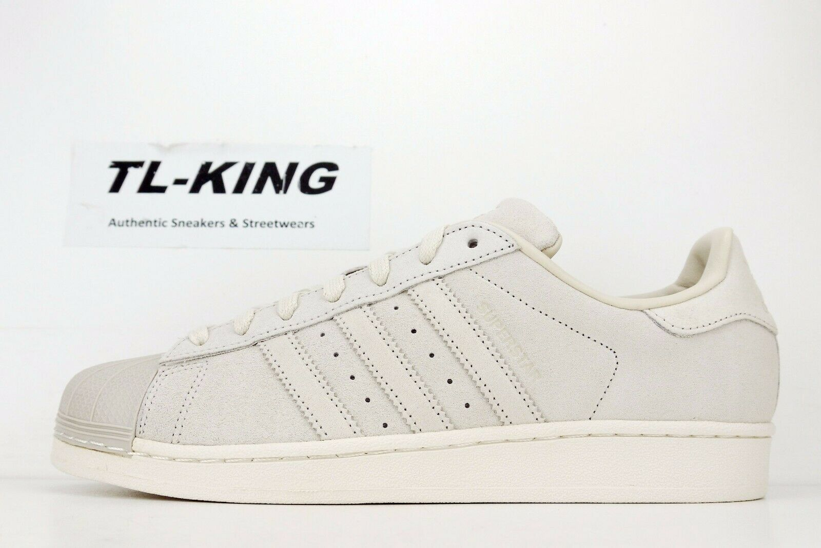 Adidas Originals Superstar Beige Brown Marcia Leather Suede Shell Toe BZ0199 FB
