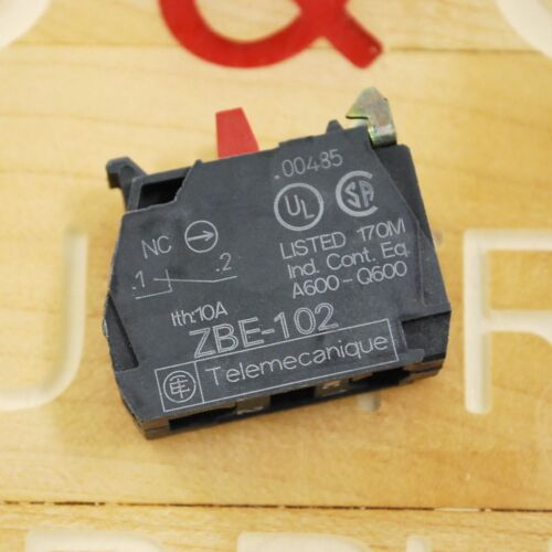 Telemecanique ZBE-102 N//C Contact Block USED