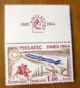EBS-France-1964-PHILATEC-Avec-Vignette-Superieure-MNH-YT1422